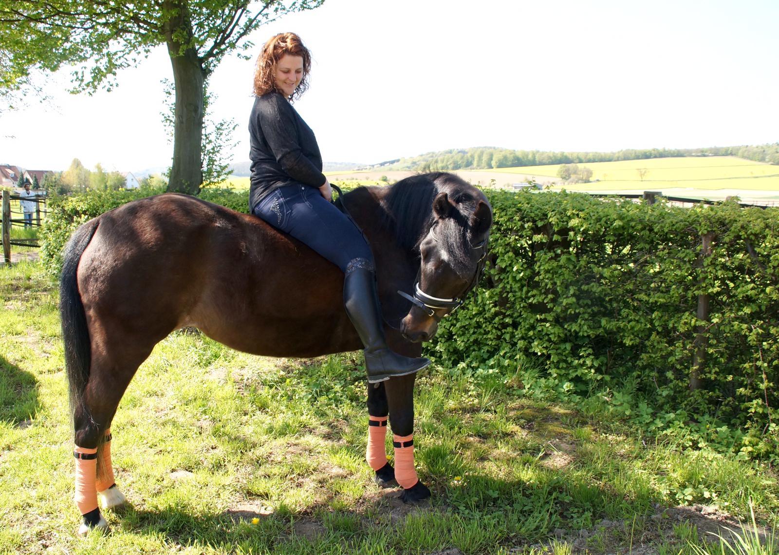 Frau auf Pony